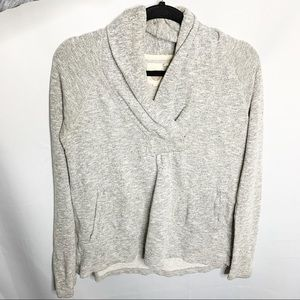 Anthropologie gray lilka pullover sweatshirt xs